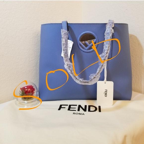 4424c878e069 Fendi F Logo Calf Leather Shopping Tote Bag